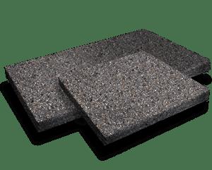 Charcoal aggregate pavers