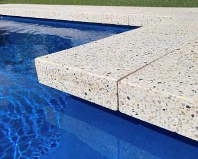 Honed aggregate paver - pool