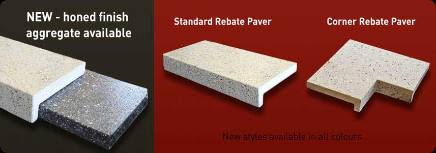 Honed aggregate pavers