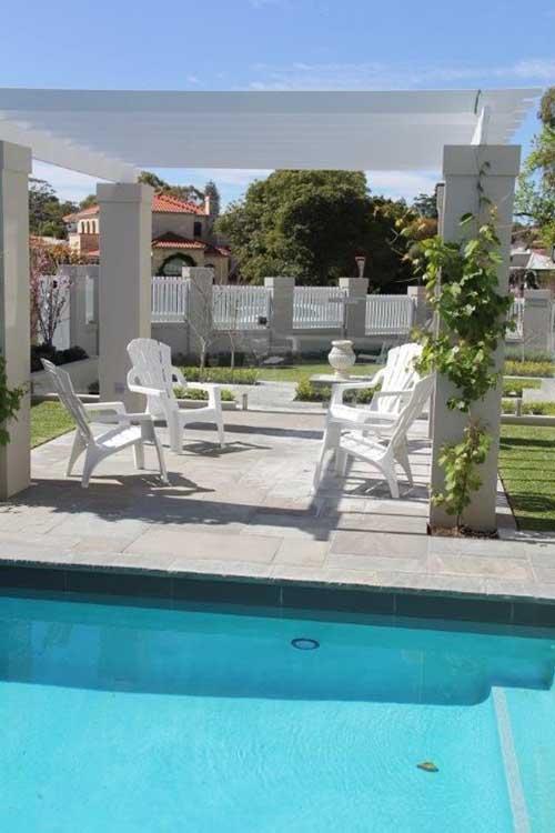 Landscape design with pool