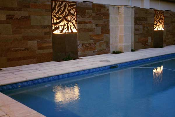 Stone Walling For Pool Area Dalkeith