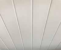 White Ceiling Cladding