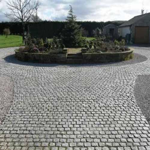 granite sett cobble driveway