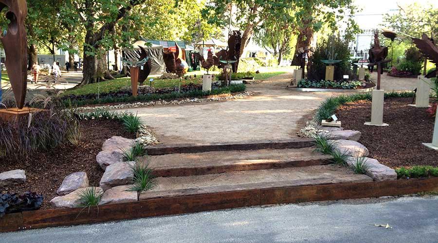 Edging for garden steps